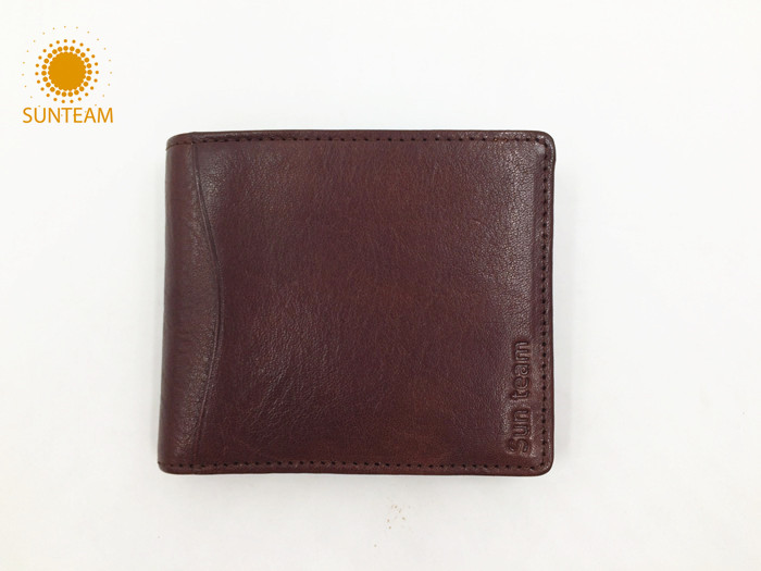 Italy camel genuine leather wallet