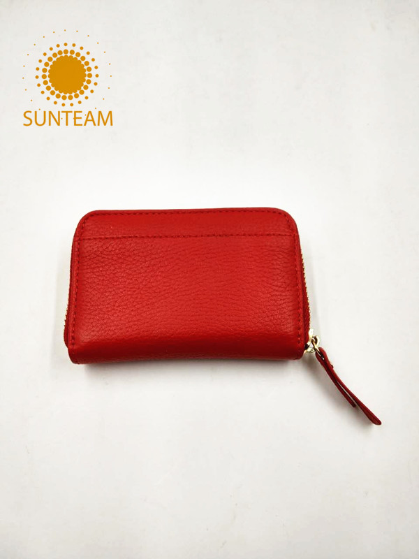 Thin leather card holder manufacturer