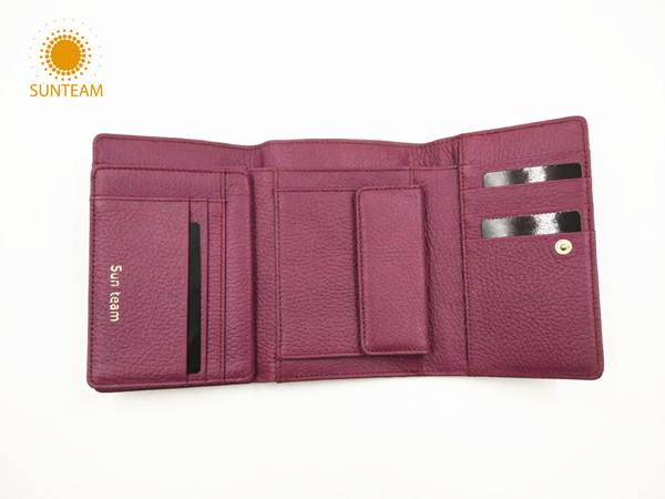 Bnagladesh cow leather woman wallet supplier