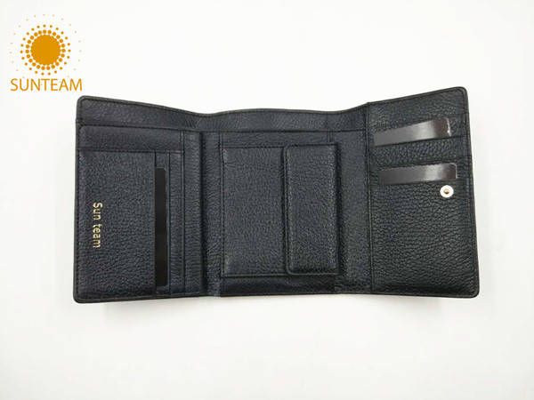 Genuine leather woman wallet supplier