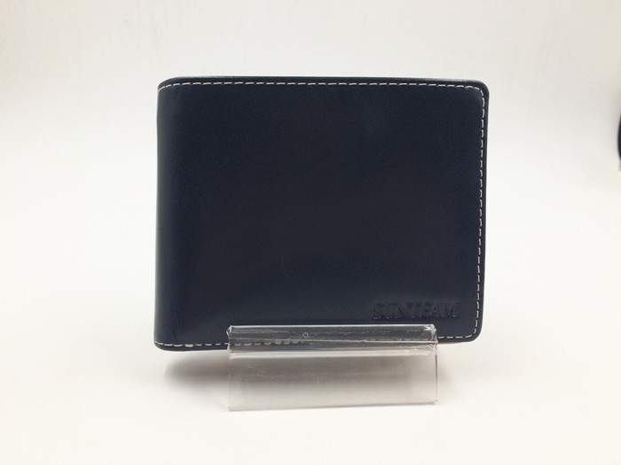 Black men genuine leather wallet manufacturer