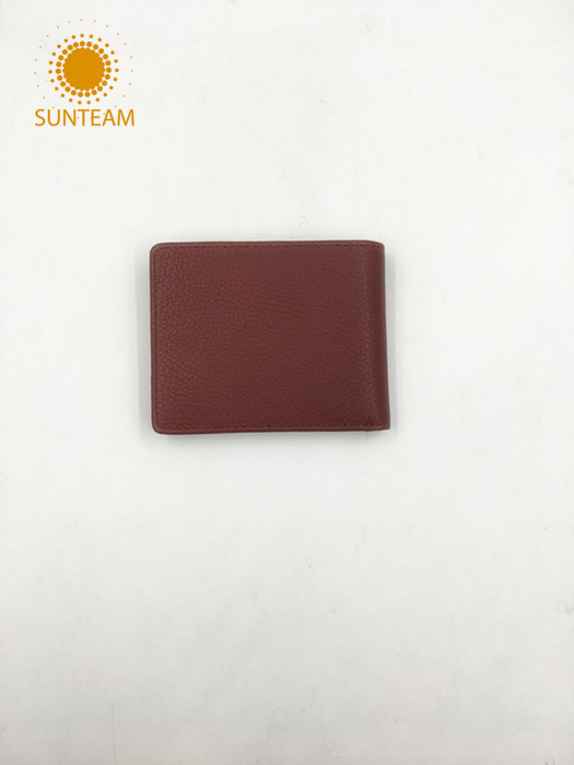 China Customized leather wallet supplier