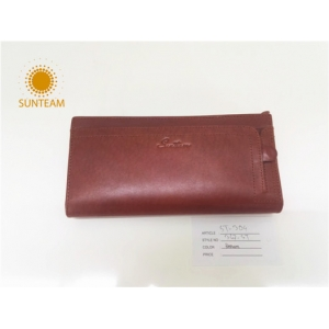 High quality geunine leather wallet,famous brand Leather wallet china,Oem women wallet solution