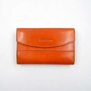 Leather Card Holder Wallet Womens Bifold Top Grain Large Capacity Leather Wallet