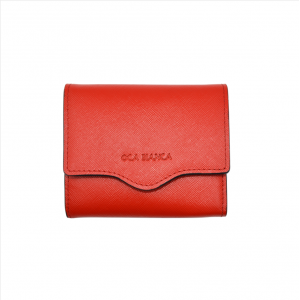 Red leather wallet-woman wallet-lady wallet