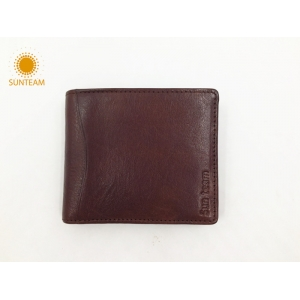 Top brand leather wallet supplier-Bangladesh Top brand leather wallet-New design leather man wallet