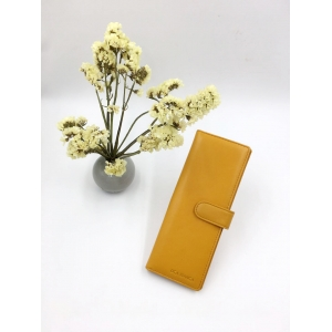 Yellow long card holder-card holder-woman card holder