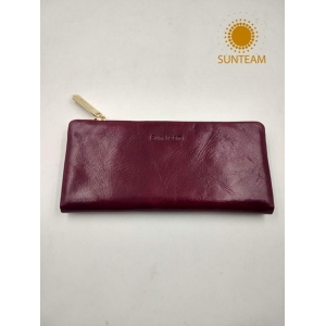 Zipper Around Woman Wallet Supplier, Italy Leather Wallet Manufacturer, Genuine Woman Leather Bag Factory