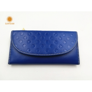 discount designer lady wallets distributor,latest leather wallet manufacturer,women long blue fashion wallet