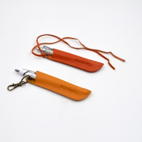 China Designer pen case manufacturer-genuine leather pen cover supplier-High quality Leather pen cover factory