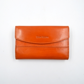 China Leather Card Holder Wallet Womens Bifold Top Grain Large Capacity Leather Wallet factory