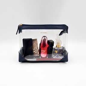 China Professional PU transparent makeup bag-Chinese high fashion makeup bag manufacturer; makeup bag exporter factory
