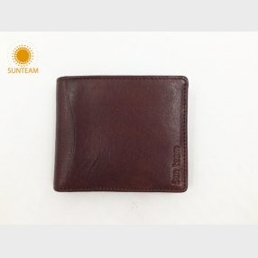 China Top brand leather wallet supplier-Bangladesh Top brand leather wallet-New design leather man wallet factory