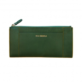 good quality leather wallet for woman-lady green wallet-long woman slim wallet factories