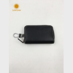 China newest design real leather wallet, women's leather wallet, Money Clip leather wallet factory